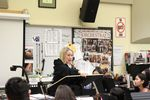 Ron Russell orchestra director Tammy Culp leads class a few days before the school's winter concert.