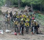 An 'initial attack crew' at the Bruler fire in Oregon.