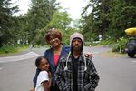 Gwendolyn Jones and her children Tia and Taylor are visiting the Long Beach Peninsula from Houston, Texas.