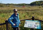 Anne Schechinger, here at a pond at the Minnesota Landscape Arboretum, says there are many forms of toxic algae that aren't that well understood yet.