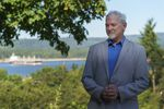 Mike Reuter, mayor of Kalama, at his home overlooking the lower Columbia River, July 29, 2021. Reuter was one of the few elected opponents to building a $2 billion methanol plant on the river that would convert fracked natural gas into methanol.