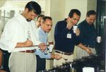 Evaluating coffees at the first Cup of Excellence, then dubbed Best of Brazil, in 1999.