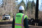 Cleanup crews with the U.S. Environmental Protection Agency are clearing hazardous waste from properties that burned in Oregon wildfires.