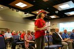 Supporters and opponents testify on a controversial plan to build the nation's largest oil-by-rail terminal in Vancouver, Washington.
