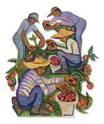"Betty LaDuke, ""Oregon Cherry Tomato Harvest,"" 2010"