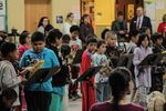 Third graders at Earl Boyles Elementary School play recorders at a winter concert, Dec. 18.