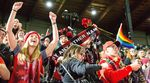 The Portland Thorns celebrate their 2017 NWSL championship with fans at Providence Park Sunday, Oct. 15, 2017.