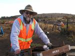 Tom Connolly of the University of Oregon's Museum of Natural and Cultural History, working at a dig in Klamath County