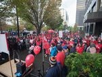 The Oregon Federation of Nurses and Health Professionals held a rally on Sept. 28 to urge support for what the union calls safe staffing. Now the union's Kaiser Permanente members have voted to authorize a strike.