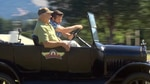 OPB's Ian McCluskey gets a hands-on experience behind the wheel of a Model T.
