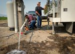 Water well pump servicers with TW Wells get a water well outside Klamath Falls running again on Aug. 5.
