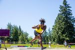 """Michelle Carter, the """"Shot Diva"""" and Olympic gold medalist, hurls the shot at the TrackTown Summer Series in Gresham."""