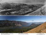 A comparison of the Columbia Gorge forests in 1933 and 2015, as seen from Dog Mountain.