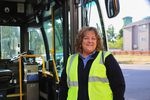 "Theresa Lemke starts her shift as a TriMet bus driver at 3 a.m. That means waking up as early as 1:40 a.m. ""Being in bed at 6 p.m. is really tough,"" she says."