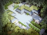 """Cultural Crossing, Portland Japanese Garden, Portland, Oregon (2017) The Cultural Crossing village will deploy a gunkol plan, which translates into """"the flying geese"""" — the V formations of migrating birds."""