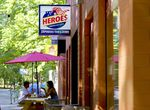 Heroes American Cafe in Portland, June 16, 2021. The business, owned by John  Jackson, was a month old when someone shot into the store during a protest march against police brutality. The customer base consists of mainly residents from the neighborhood.