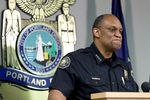 Chuck Lovell was sworn in on June 11, 2020, as chief of the Portland Police Bureau.