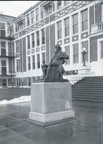 The Thomas Jefferson statue at Jefferson High School, circa 1923-1936.