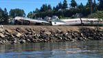 An Amtrak train derailed near Steilacoom, Washington, Sunday, July 2, 2017.