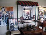 Fergison's home is a menagerie of paintings, art, and memorabilia of a life well lived.