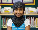 A portrait of Munira from the Class Of 2025 taken in 2015.