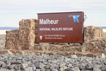 The main sign for the Malheur National Wildlife Refuge